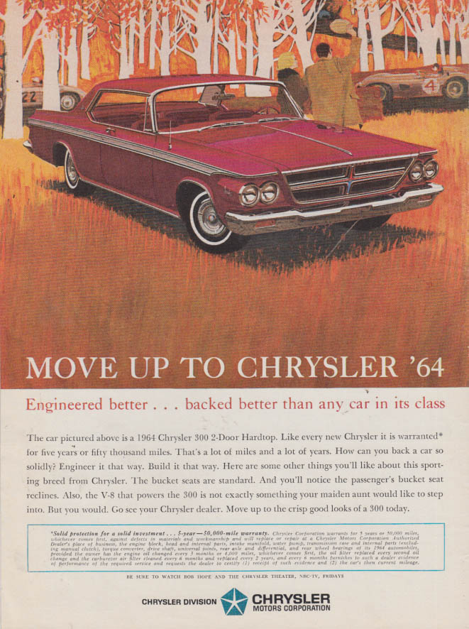 Image for Engineered better backed better Chrysler 300 2-dr hardtop ad 1964 SI