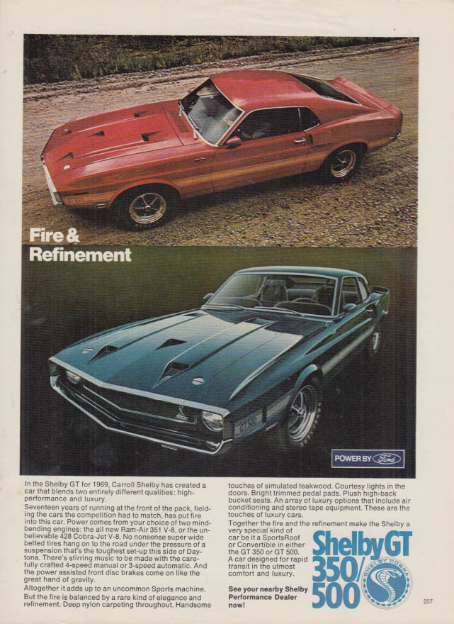 Image for Fire & Excitement - Shelby GT 350 / 500 ad 1969 PBY