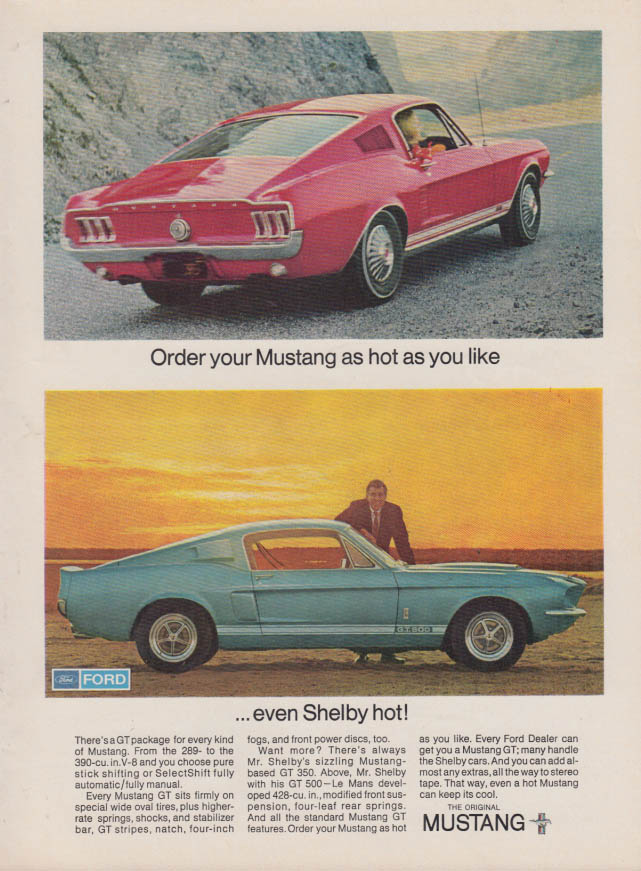 Image for Order your Mustang as hot as you like even Shelby GT 350 hot ad 1967 var