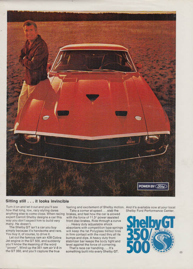 Image for Sitting still - it looks invincible Shelby GT 350 / 500 ad 1969 PBY