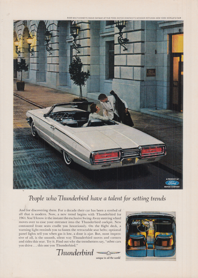 Image for People who Thunderbird have a talent for setting trends ad 1964 NY