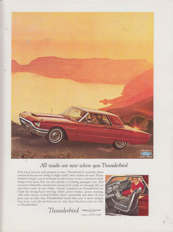 Image for All roads are new when you Thunderbird ad 1964 NY