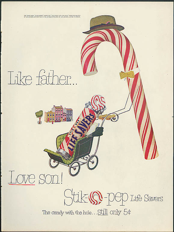 Image for Like father - love son! Life Savers StikOpep Candy ad 1951