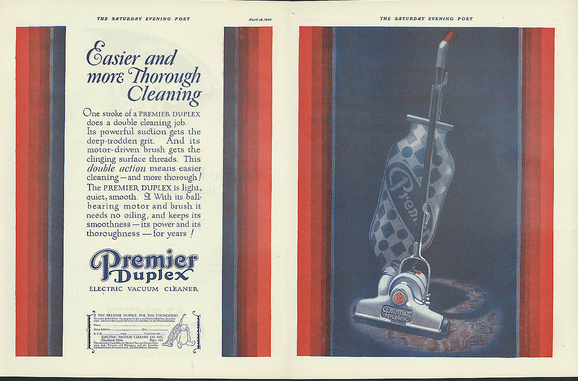 Image for Easier & more thorough cleaning Premier Duplex Electric Vacuum Cleaner ad 1925