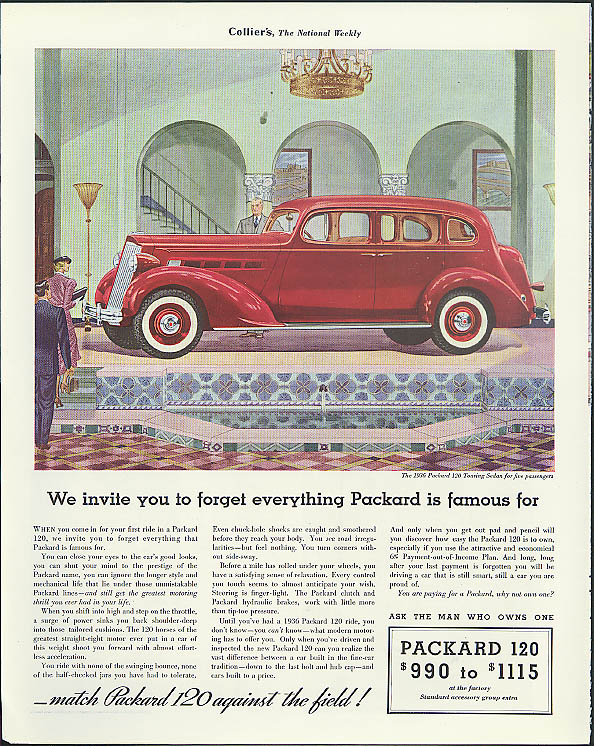 Image for We invite you to forget everything Packard is famous for ad 1936