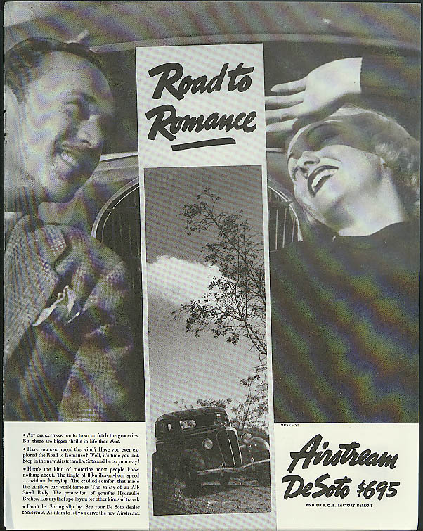 Image for Road to Romance Airstream De Soto ad 1935 Munkacsi photograph