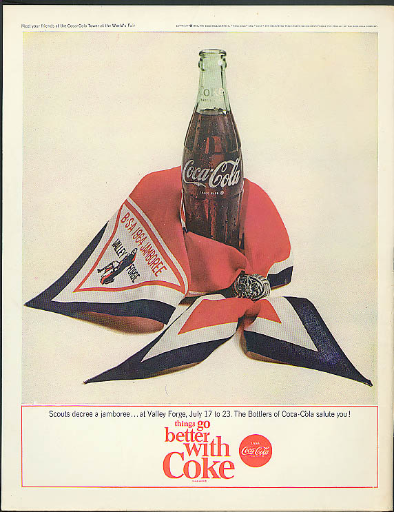 Scouts decree a jamboree at Valley Forge Coca-Cola ad 1964 neckerchief