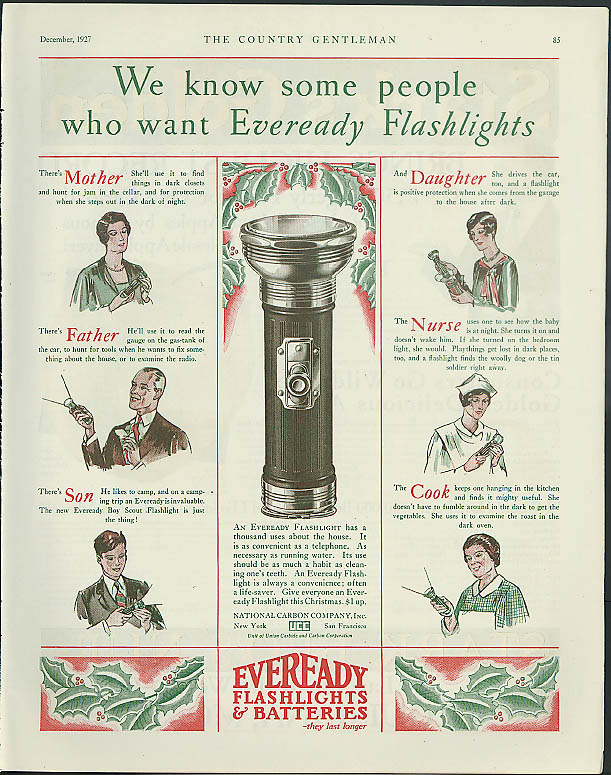 Image for We know some people who want Eveready Flashlights ad 1927