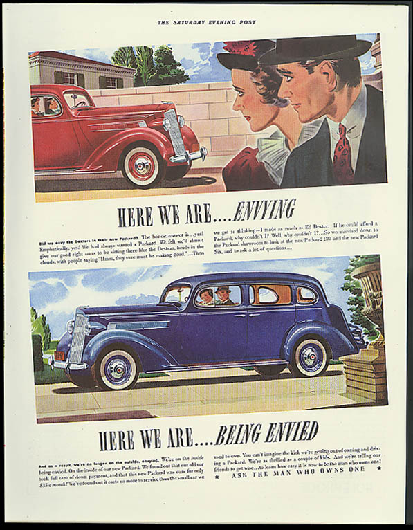 Image for Here we are . . Envying Here we are . . Being Envied Packard ad 1937