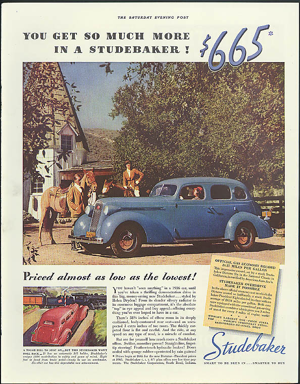 You get so much more in a Studebaker ad 1936