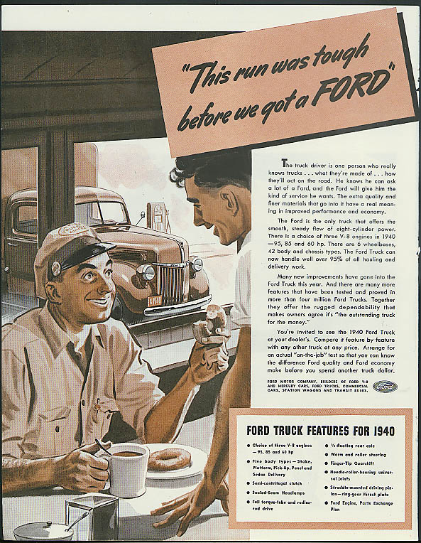 This run was tough before you got a Ford ad 1940