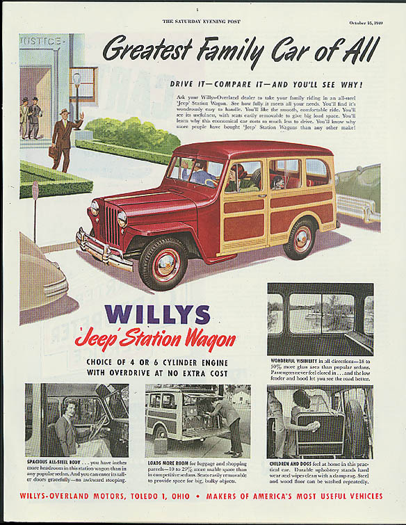 Image for Greatest Family Car of All Jeep Station Wagon ad 1949