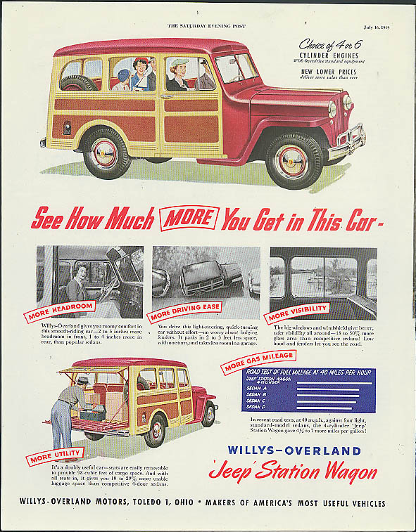 Image for See How Much More You Get in This Car Willys Jeep Station Wagon ad 1949