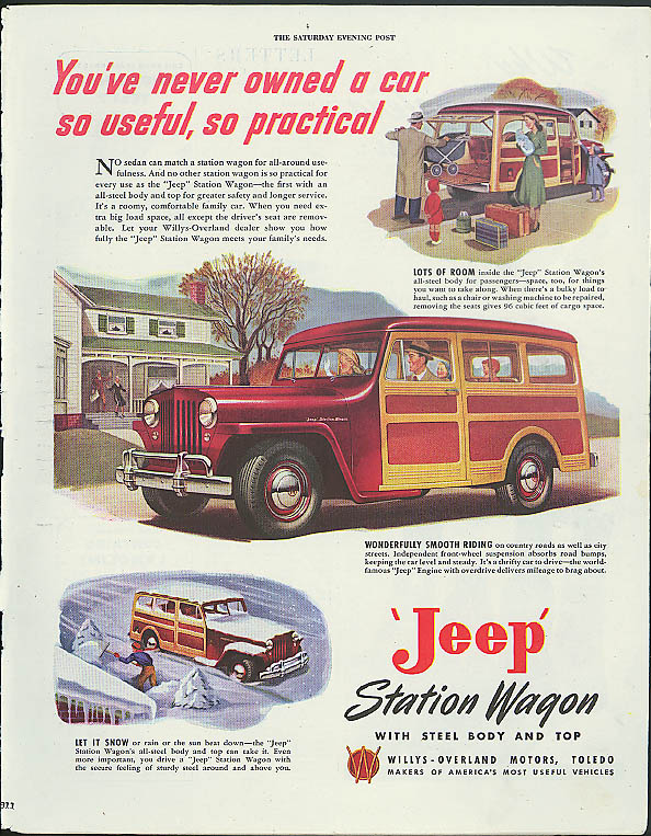 Image for You've never owned a car so useful so practical Jeep Station Wagon ad