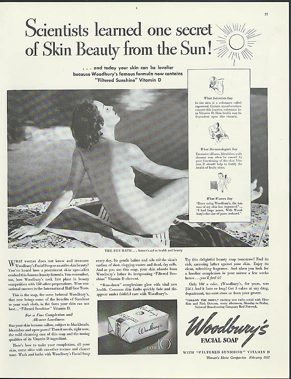 Scientists learned from the Sun! Woodbury Soap ad 1936 Edward Steichen ?