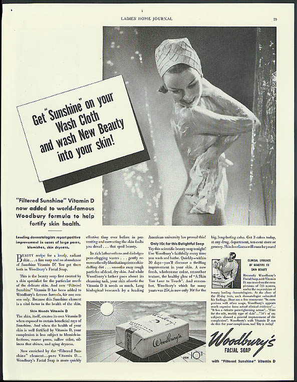 Get sunshine on your wash cloth Woodbury Soap  1937 Edward Steichen ?