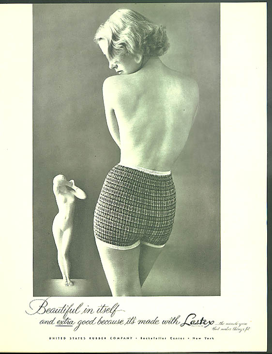 Beautiful in itself Lastex Panties United States Rubber ad 1952