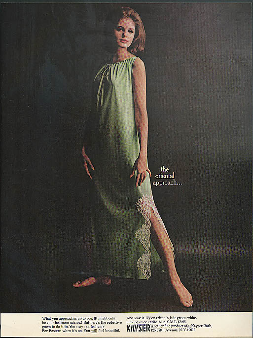 The oriental approach Kayser Nightgown nightie ad 1964