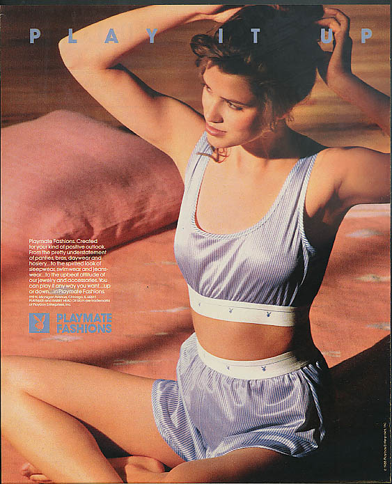 Play it Up Playmate Fashions by Playboy ad 1988 2-piece sleepwear nightie
