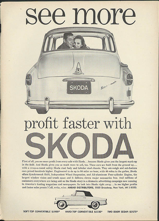See more profit faster with Skoda automobile ad 1960
