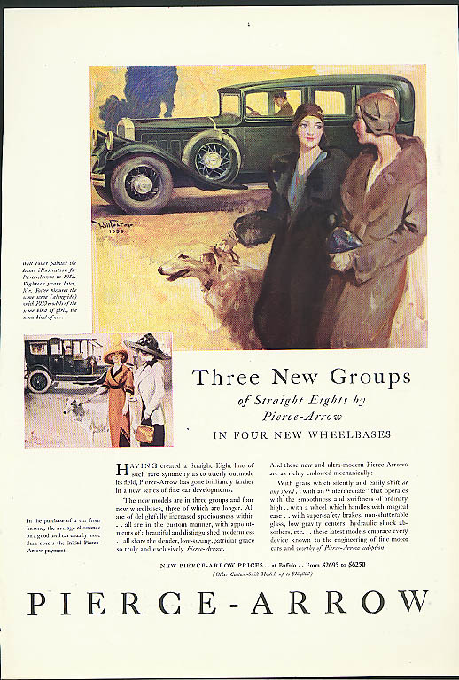 Image for Three New Groups of Straight Eights by Pierce-Arrow ad 1930 Arts & Decoration