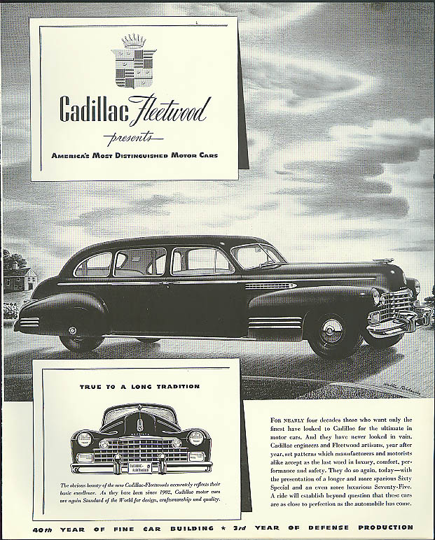 True to a long tradition Cadillac Fleetwood Seventy-Five ad 1942