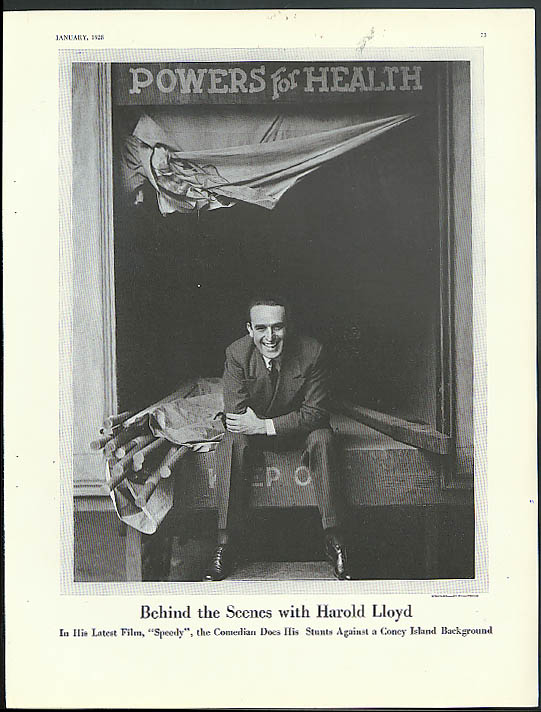 Comedian Harold Lloyd at Coney Island by Edward Steichen Vanity Fair page 1928