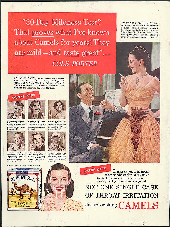 30-Day Mildness Test? Cole Porter & Patricia Morison Camel Cigarettes ad 1949