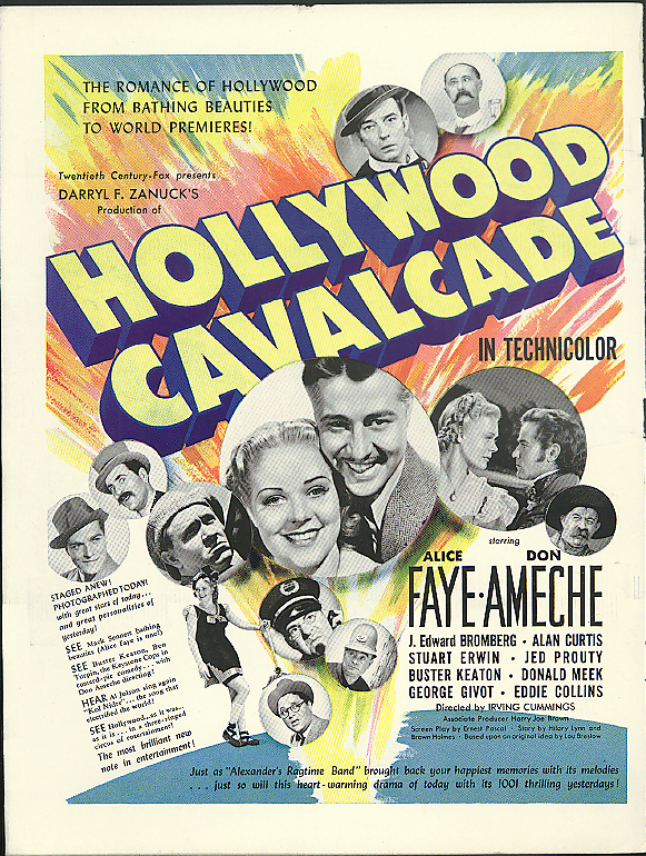 Alice Faye Don Ameche in Hollywood Cavalcade ad / Kids Football cover LIFE 1939