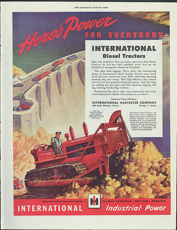Image for Here's Power for Everybody International Diesel Tractors ad 1946