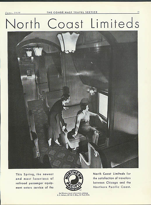 Image for This Spring, The North Coast Limiteds Northern Pacific Railroad ad 1930