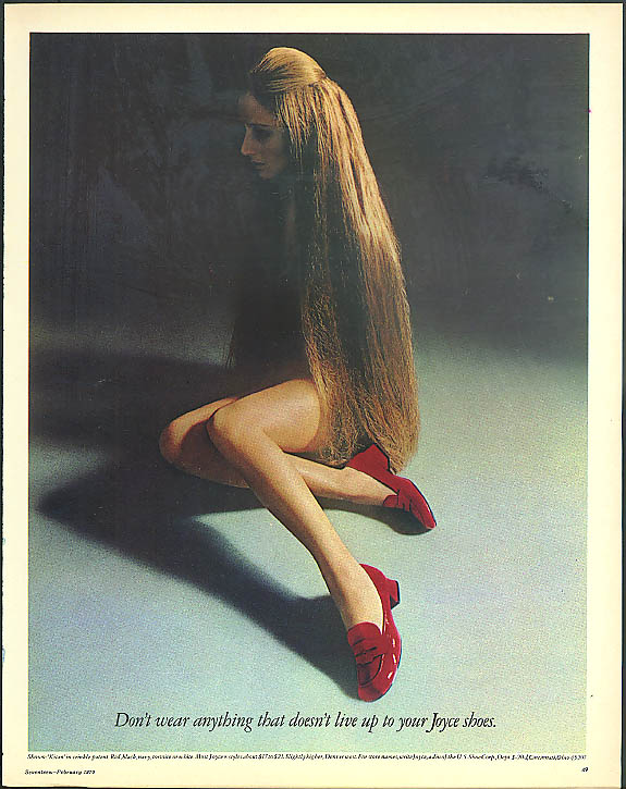 Image for Dont wear anything that doesnt live up to your Joyce Shoes ad 1970 nude?