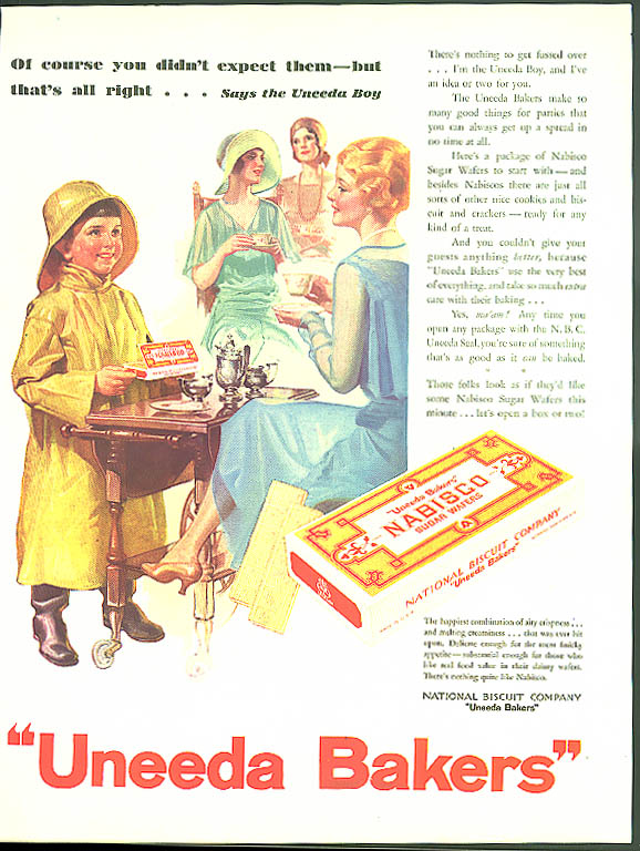 Image for Of course you didn't expect them Nabisco Uneeda Sugar Wafers ad 1930