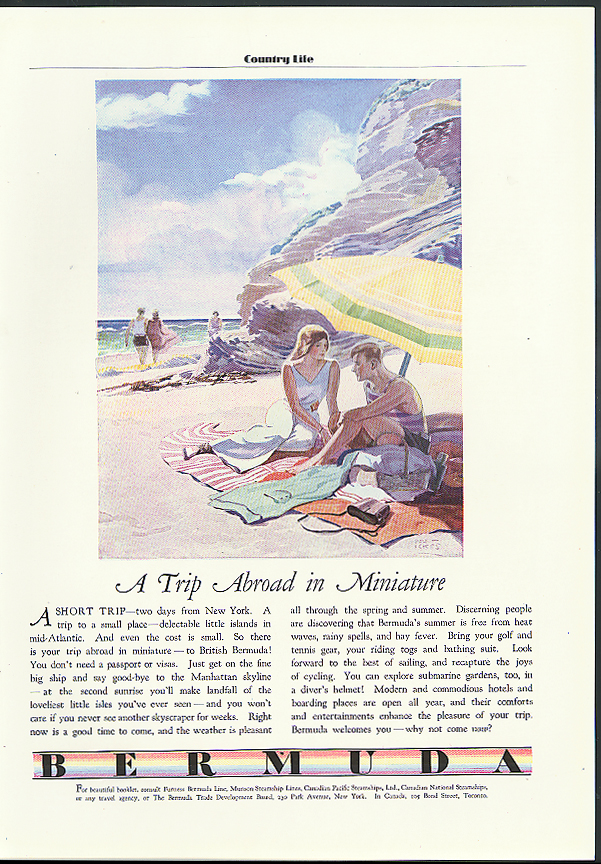 A Trip Abroad in Miniature Bermuda Trade Development Tourism ad 1931