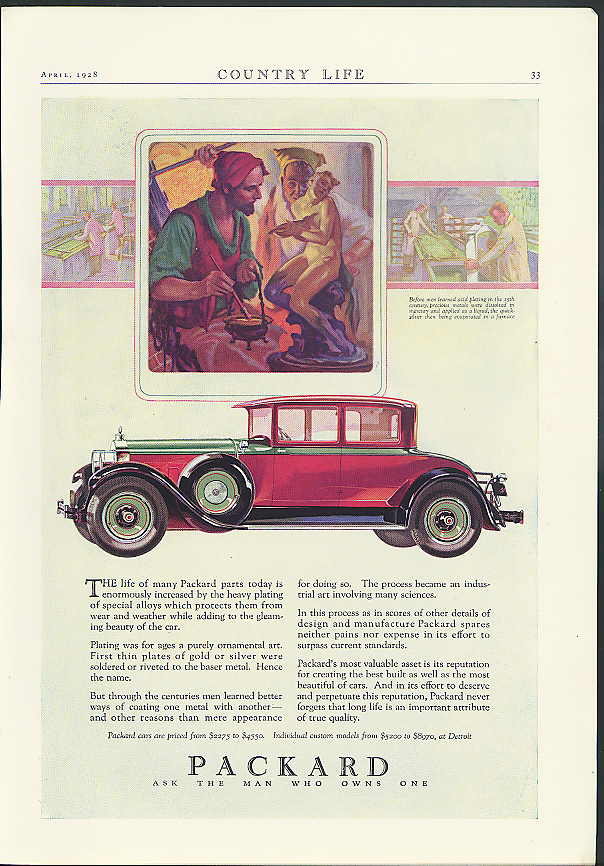 The life of many parts today is enormously increased Packard ad 1928