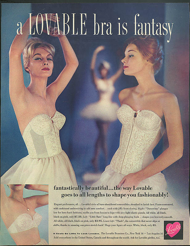 A Lovable bra is fantasy fantastically beautiful ad 1960