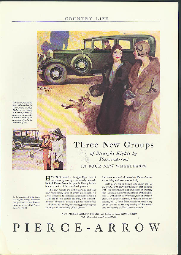 Image for Three New Groups of Straight Eights by Pierce-Arrow ad 1930 Country Life