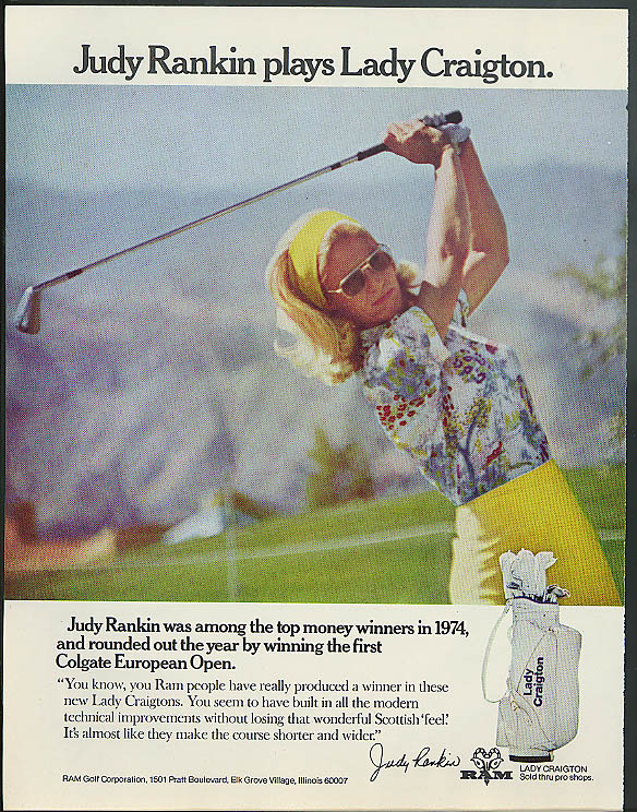 Image for Judy Rankin plays Lady Craigton Golf Clubs ad 1975