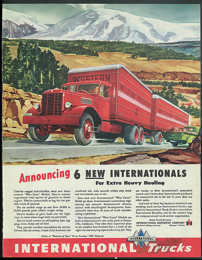 Announcing 6 new International Trucks for Extra Duty Hauling ad 1946