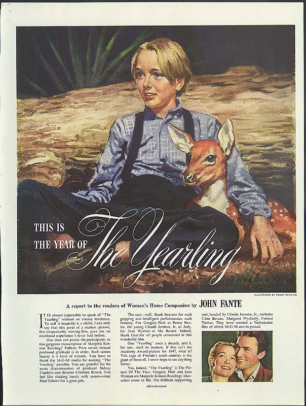 Gregory Peck Jane Wyman in Marjorie Kinnan Rawlings The