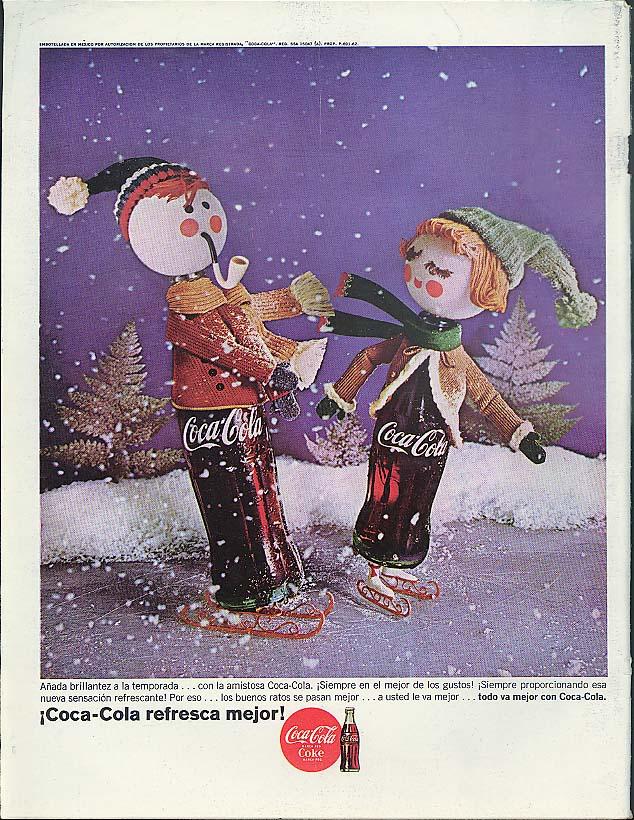 Anada brillantez a la temporada con la amistosa Coca-Cola ad 1964 in Spanish