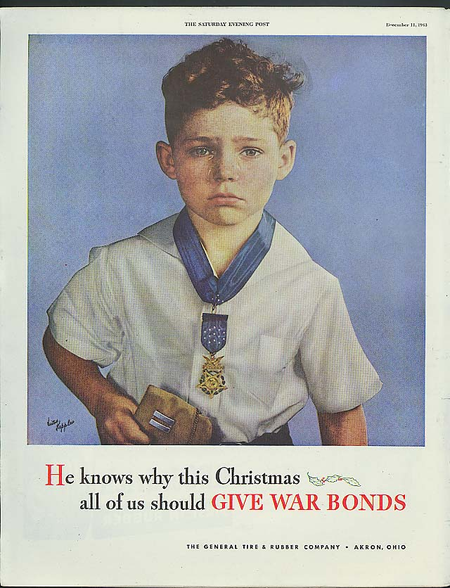 He knows why this Christmas Give War Bonds ad 1943 Victor Keppler photo