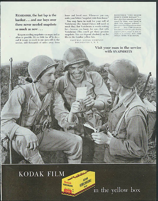 Remember the last lap is hardest Kodak Snapshots to GIs in service ad 1945