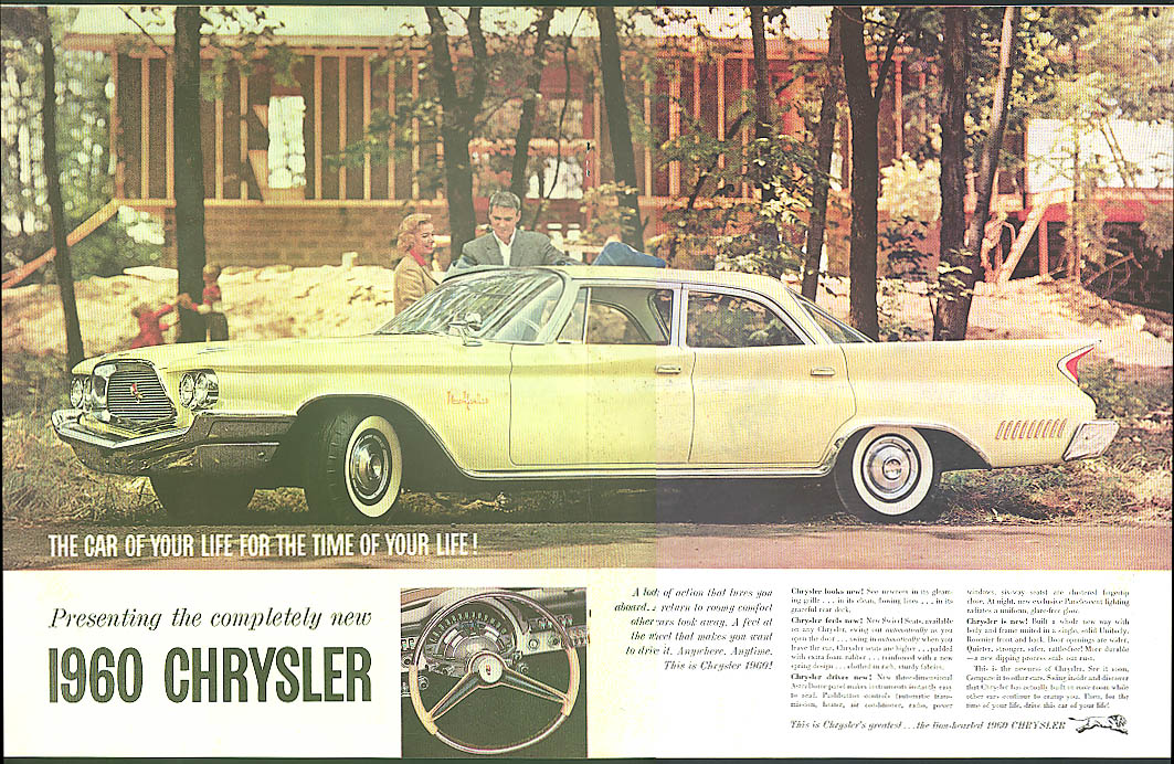 Image for The car for the time of your life! Chrysler New Yorker 4-door sedan ad 1960