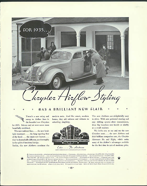 Image for Chrysler Airflow Styling has a brilliant new flair ad 1935