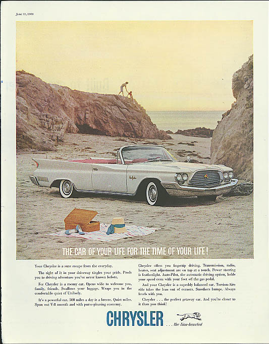 Image for Car of Your Life - Time of Your Life Chrysler New Yorker Convertible ad 1960
