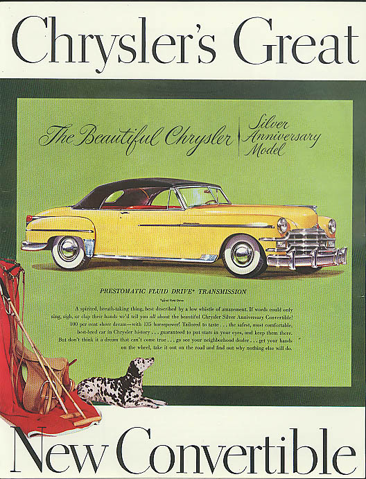 Image for Chrysler's Great New Convertible Silver Anniversary Model ad 1949