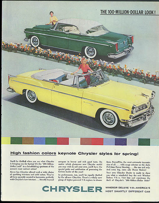 Image for High fashion Chrysler Windsor De Luxe Convertible & Coupe ad 1955