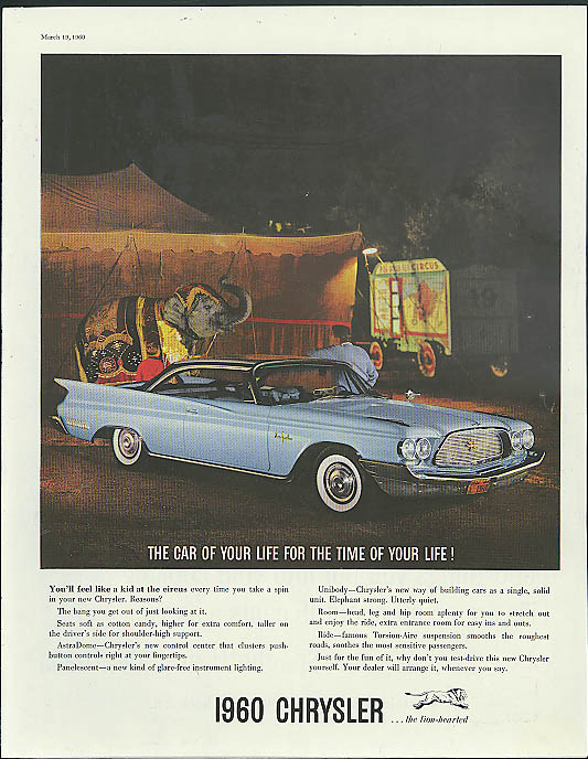 Image for You'll feel like a kid at the circus Chrysler New Yorker 2-door Hardtop ad 1960