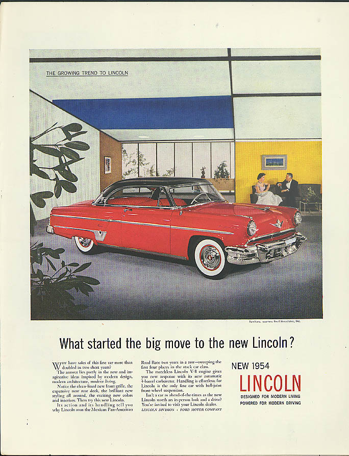 Image for What started the big move to the new Lincoln Capri? Ad 1954 Holiday